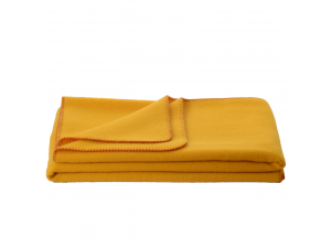 Wool blanket, Velour - YELLOW