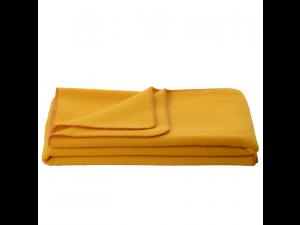 Chlidren's sheep wool blanket, Velour - YELLOW