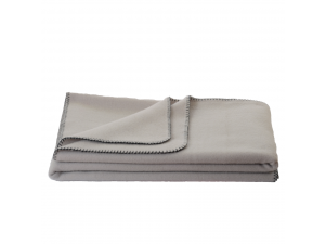 Wool blanket, Velour - GREY