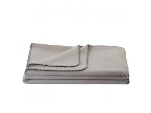 Chlidren's sheep wool blanket, Velour - GREY