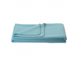 Wool blanket, Velour - LIGHT BLUE