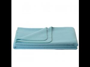 Chlidren's sheep wool blanket, Velour - LIGHT BLUE