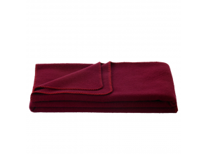 Wool blanket, Velour - DARK RED