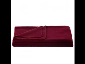 Chlidren's sheep wool blanket, Velour - DARK RED