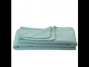 Chlidren's sheep wool blanket, Velour - TURQUOISE