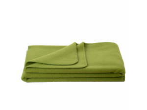 Wool blanket, Velour - GREEN