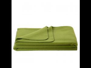 Chlidren's sheep wool blanket, Velour - GREEN