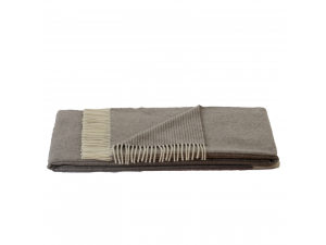 Lambswool blanket - GREY Stripes