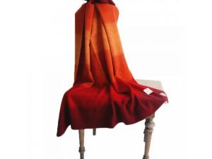Children´s Wool blanket, Velour - RED