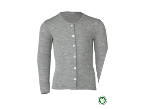 BIO Merino-Silk Cardigan, GREY -  size 92 to 176