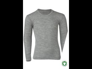 BIO Merino-Silk Shirt Long Sleeves, GREY -  size 92 to 176