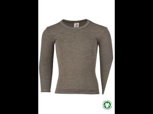 BIO Merino-Silk Shirt Long Sleeves, WALNUT, BROWN -  size 92 to 176