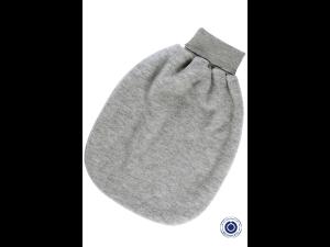 BIO Merino fleece Romper Pouch, BLUE- size 1 - 47 cm