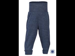 BIO Merino Baby Pants, ribbed jersey, BLUE - size 50/56 to 86/92
