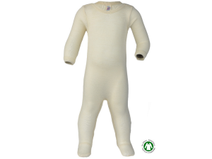BIO Merino-Silk Sleeping Overall, NATURAL - 50/56 to 98/104
