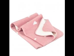 BIO Baby Doubleface Cotton blanket - PINK & WHITE