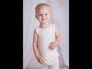EKO Merino-Silk Children`s shirt, sleeveless, NATURAL -  size 122 to 152