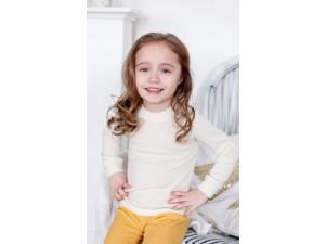 ECO Merino-Silk Children`s shirt, NATURAL -  size 62 to 152