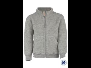 BIO Merino Fleece Children`s Jacket, GREY - size 98/104 to 110/116