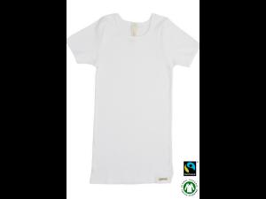 BIO Cotton children`s shirt, short sleeves, WHITE - 104 to 164
