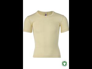 BIO Merino-Silk Children's Shirt, short sleeves, NATURAL -  size 92 to 176