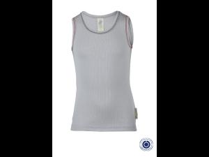 BIO Cotton Shirt, GRAY - size 92 to 152