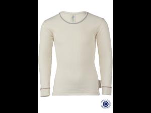 BIO Cotton Shirt, NATURAL- size 92 to 152