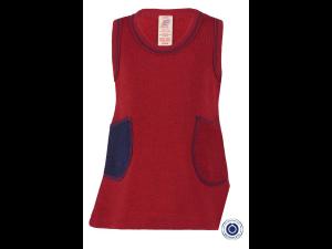 BIO Merino Dress, sleeveless, striped, GREY, BLUE - 62/68 to 110/116