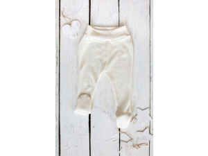ECO Merino-Silk pants, NATURAL -  size 56 to 104