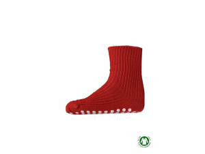 Children Merino wool  socks, RED- size  25-26