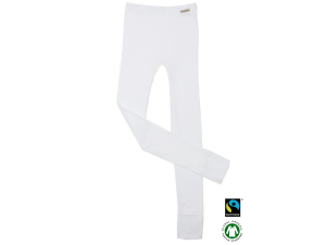 BIO Cotton children`s leggings, WHITE - 104 to 164