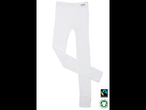 BIO Cotton children`s leggings, WHITE - 104 to 164