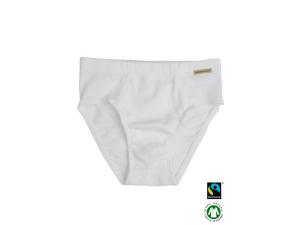 BIO Cotton boys' underpants, WHITE - 104 to 164