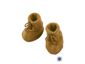 BIO Merino Fleece Baby slippers, YELLOW