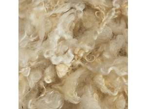 Sheep Wool in Flocks WENSLYDALE  - NATURAL  - 100g