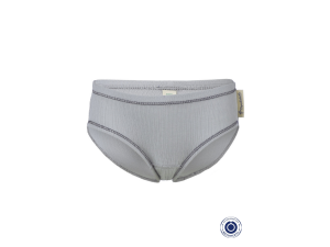BIO Cotton Girly slip panty, GREY - size 50/56 to 74/80