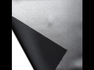 Silk satin fabric, thicker silk, SILVER, BLACK, width 280 cm
