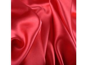 Silk satin fabric, Lighter silk, CARMINE RED, width 280 cm / 22 momme (mm)