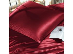 Silk fitted sheet, Lighter silk - RUBIN RED / 22 momme (mm)