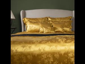 ADA GOLD Silk Bed linen - Heavy Jacquard silk / 31 momme (mm)