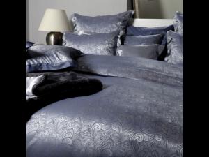 MOMENTO BLU Silk Bed linen - Heavy Jacquard silk / 31 momme (mm)
