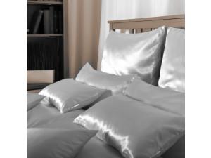 Silk pillowcase, Thicker silk - SILVER or BLACK / 28 momme (mm)
