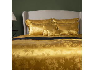 ADA GOLD Silk Flat sheet - Heavy Jacquard silk / 31 momme (mm)