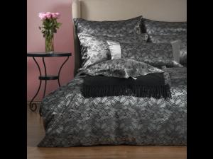 BLACK JOY Silk Flat sheet - Heavy Jacquard silk / 31 momme (mm)