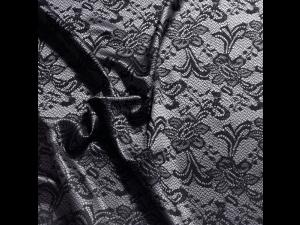 Silk Jacquard Fabric, thicker silk, BLACK JOY, width 280 cm