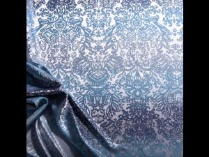 Silk Jacquard Fabric, thicker silk, OCEAN BLUE, width 280 cm