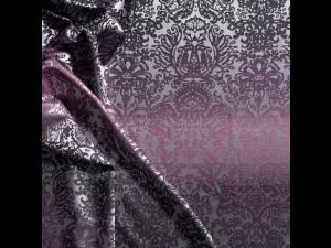 Silk Jacquard Fabric, thicker silk, OCEAN BERRY, width 280 cm