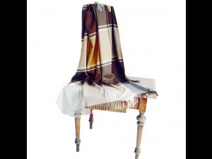 Lambswool blanket with fringe - RJAVA