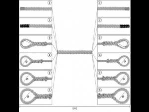 PP Artifical Hemp rope with endings, Ø 16 mm