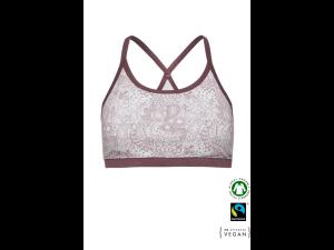 ECO Cotton Women's Non-wired Bra /bodyfit - WHITE MELANGE Print